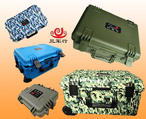 三军行注塑箱滚塑箱都有什么颜色?为什么看到的都是黑色绿色呢?