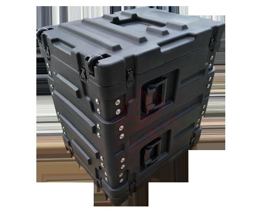 三军行RU150仪器箱 滚塑移动减震机架箱 带脚轮可定制