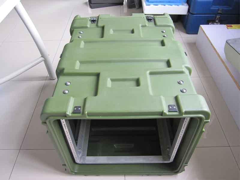 三军行6U机架箱减震机柜滚塑箱