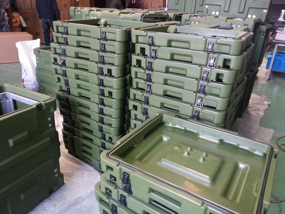 三军行5U减震机架箱服务器机柜详细介绍军用滚塑箱