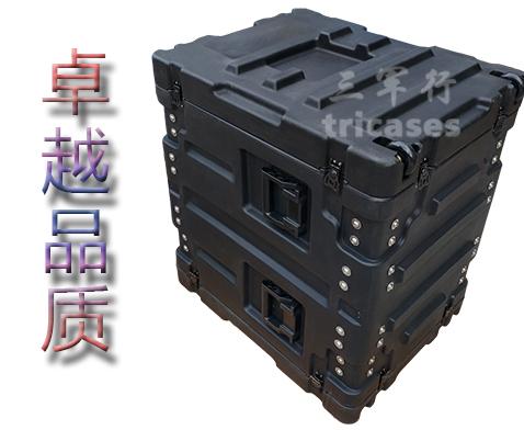 三军行14U滚塑机架箱 军用滚塑箱