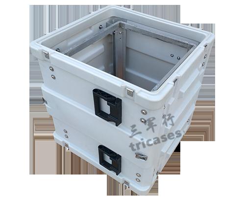 三军行10U消防移动车载减震机架箱 服务器终端运输箱 滚塑箱