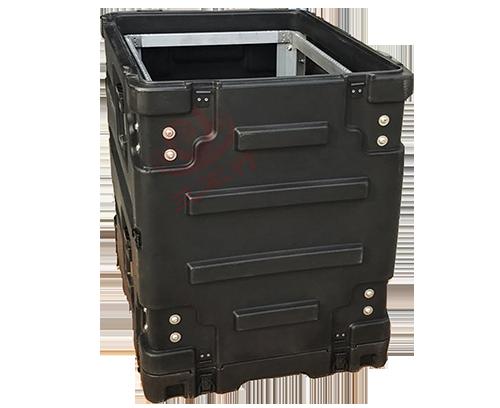 三军行12U减震机架箱19英寸缓冲箱防水减震滚塑机架箱