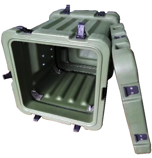 三军行2U机架箱 小型军用机箱 便携式机架箱