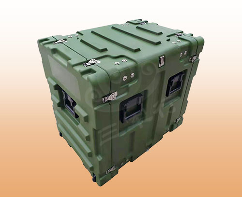 三军行9U消防移动车载减震机架箱 服务器终端运输箱 滚塑箱